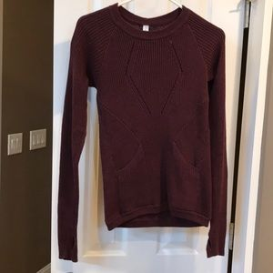 Lululemon wine color sweater size 4